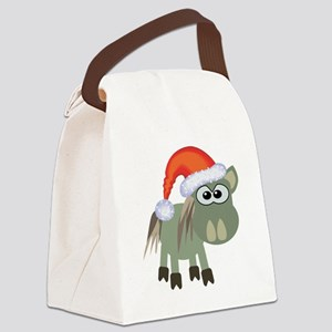 donkey santa Canvas Lunch Bag