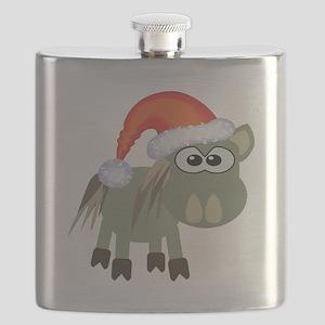 donkey santa Flask