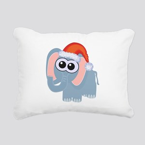 elephant santa Rectangular Canvas Pillow