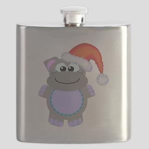 hippo santa Flask