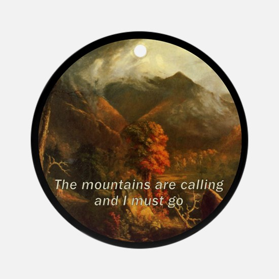 Mountains Calling Porcelain Ornament