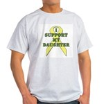 I Support My Daughter Ash Grey T-Shirt