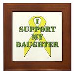 I Support My Daughter Framed Tile