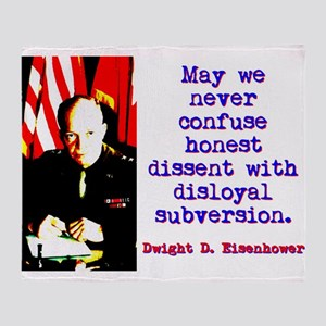May We Never Confuse - Dwight Eisenhower Throw Bla