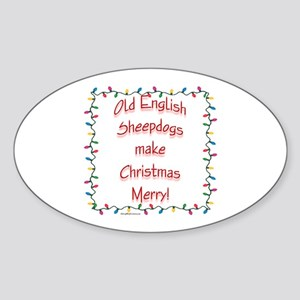 Merry OES Oval Sticker