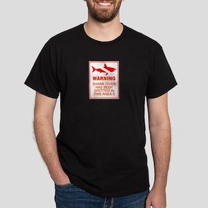 Shark Diver 2007 Logo Black T-Shirt