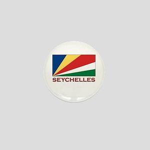 Seychelles Flag Gear Mini Button