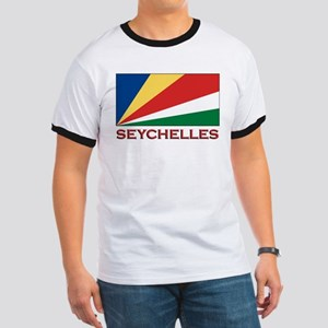 Seychelles Flag Gear Ringer T