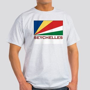 Seychelles Flag Gear Ash Grey T-Shirt