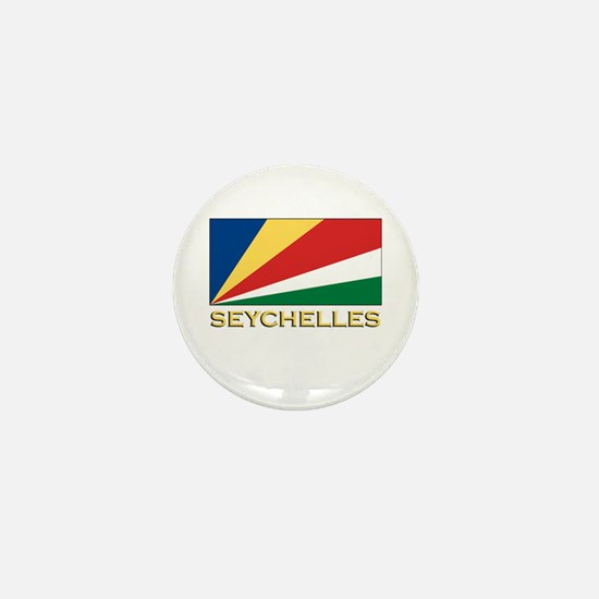 Seychelles Flag Merchandise Mini Button