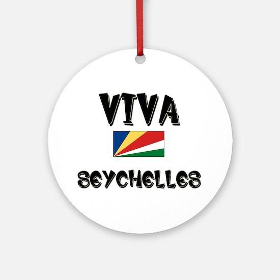 Viva Seychelles Ornament (Round)