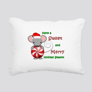 Holiday Mouse Rectangular Canvas Pillow