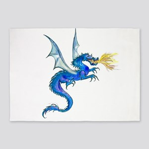 Blue Dragon 5'x7'Area Rug