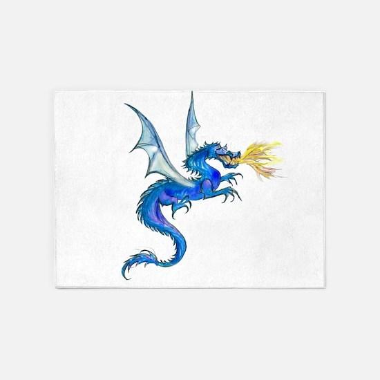 Blue Dragon 5'x7'Area Rug