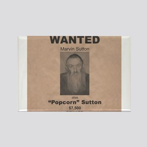Popcorn Sutton Wanted Poster Rectangle Magnet