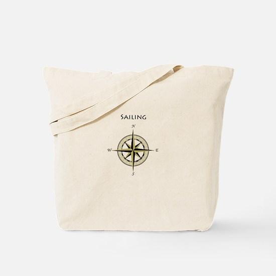 Sailing Compass Rose Tote Bag