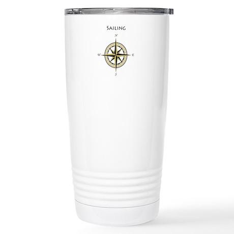 Sailing Compass Rose Stainless Steel Travel Mug