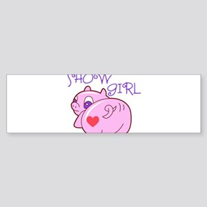 Pig Show Girl Sticker (Bumper)