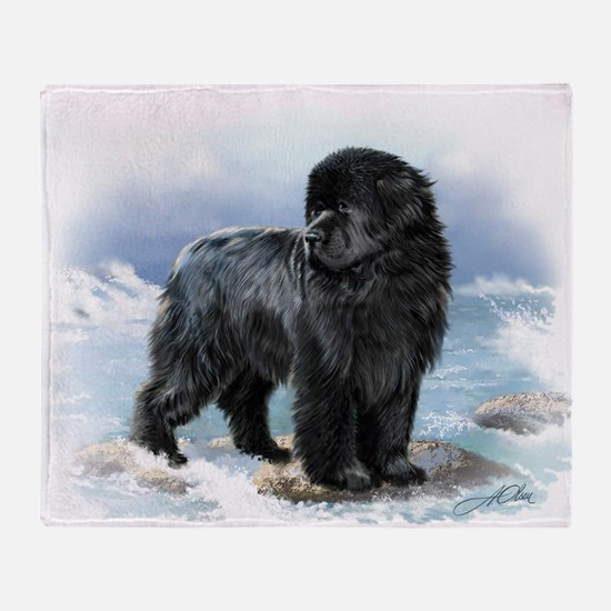 Cute Dog art Throw Blanket