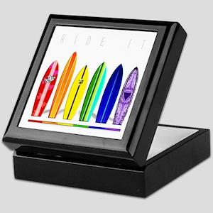 Rainbow Surf Keepsake Box