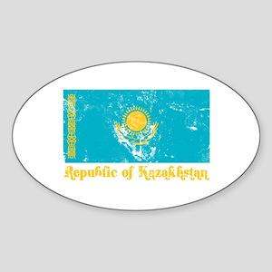 Republic of Kazakhstan Oval Sticker