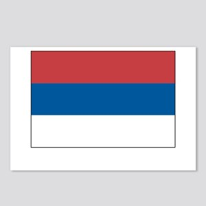 Serbia Flag Picture Postcards (Package of 8)