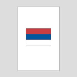 Serbia Flag Picture Mini Poster Print