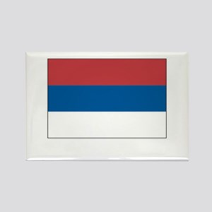 Serbia Flag Picture Rectangle Magnet