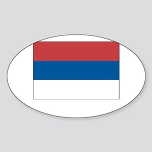 Serbia Flag Picture Oval Sticker