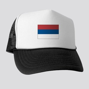 Serbia Flag Picture Trucker Hat