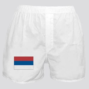 Serbia Flag Picture Boxer Shorts