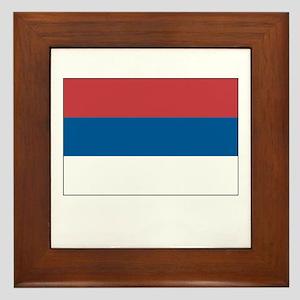 Serbia Flag Picture Framed Tile