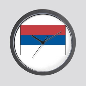 Serbia Flag Picture Wall Clock