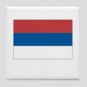 Serbia Flag Picture Tile Coaster