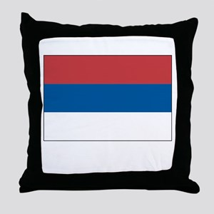 Serbia Flag Picture Throw Pillow