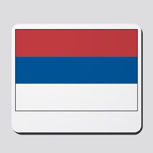 Serbia Flag Picture Mousepad