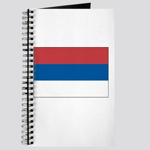 Serbia Flag Picture Journal