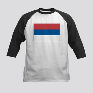Serbia Flag Picture Kids Baseball Jersey