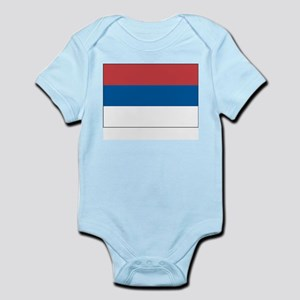 Serbia Flag Picture Infant Creeper