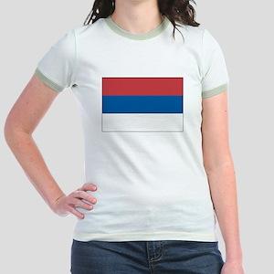 Serbia Flag Picture Jr. Ringer T-Shirt