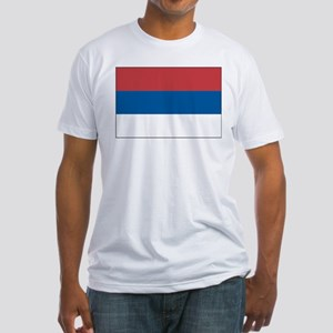 Serbia Flag Picture Fitted T-Shirt