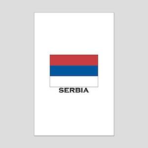 Serbia Flag Stuff Mini Poster Print