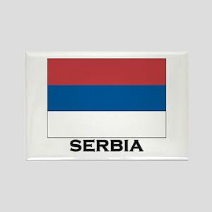 Serbia Flag Stuff Rectangle Magnet
