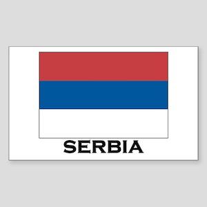 Serbia Flag Stuff Rectangle Sticker