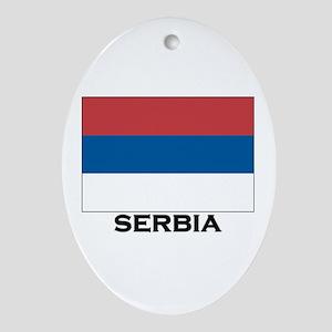 Serbia Flag Stuff Oval Ornament