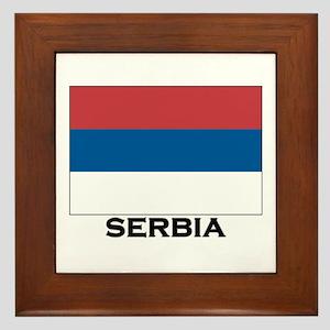 Serbia Flag Stuff Framed Tile