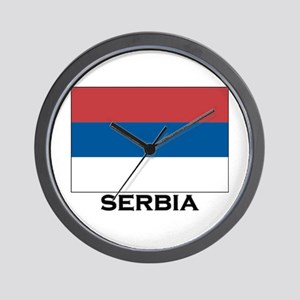 Serbia Flag Stuff Wall Clock