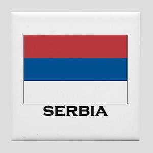 Serbia Flag Stuff Tile Coaster