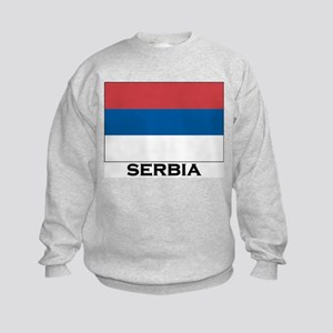Serbia Flag Stuff Kids Sweatshirt