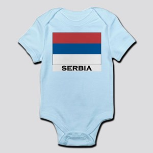 Serbia Flag Stuff Infant Creeper